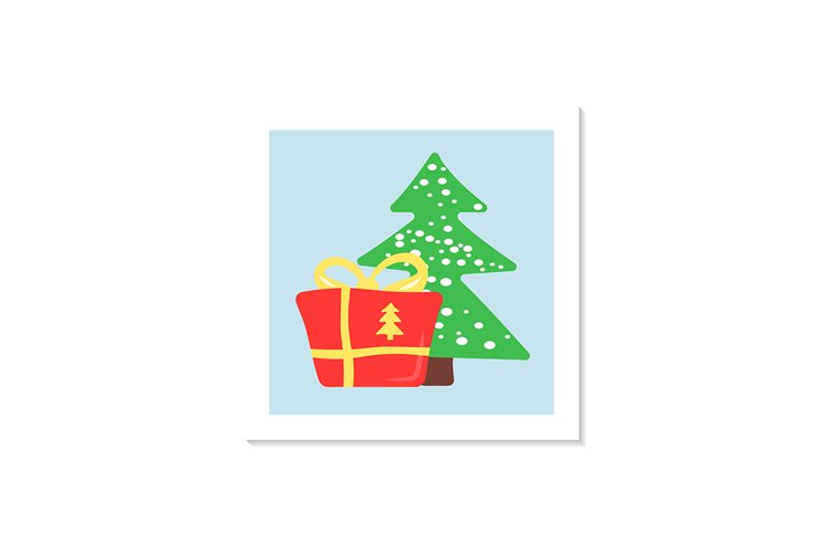 Present under xmas tree social media post mockup example image 1