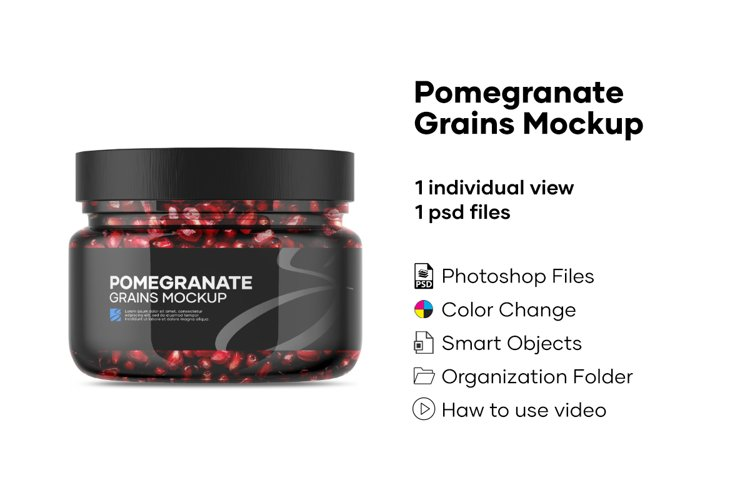 Pomegranate Grains Mockup example image 1