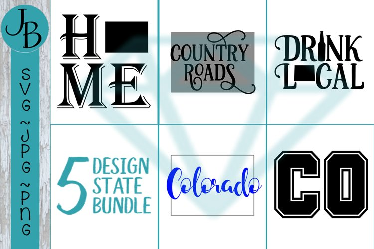 Colorado State Pride Bundle, CO SVG Bundle