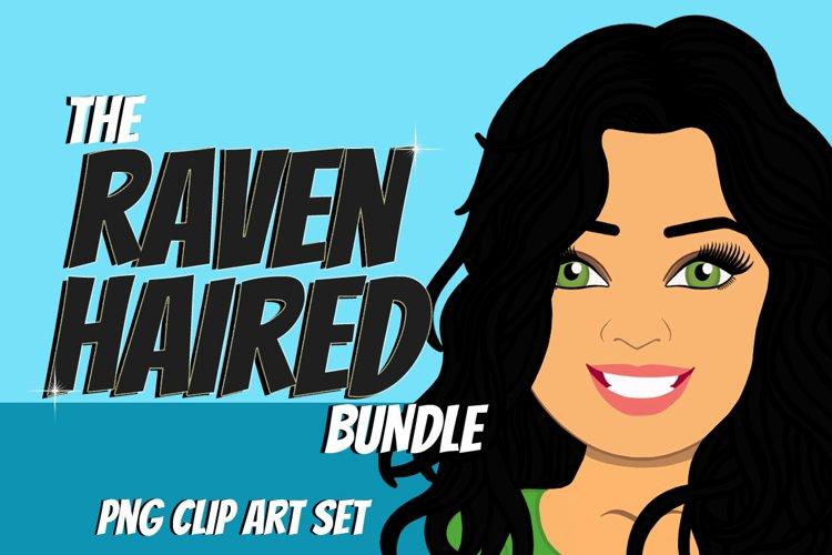 Raven Haired Woman Clip Art Bundle | Female Avatar | Graphic