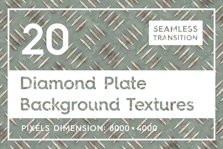20 Diamond Plate Background Textures example image 1