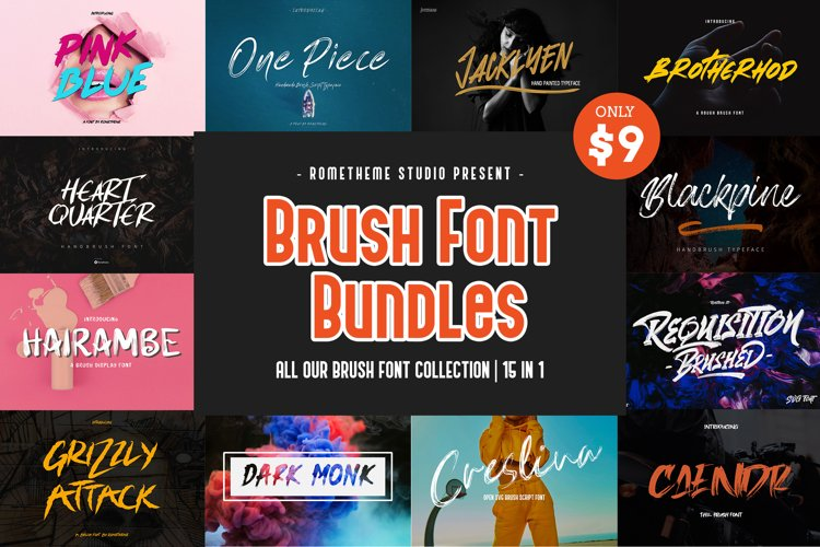 Brush Font Bundles Collection example image 1