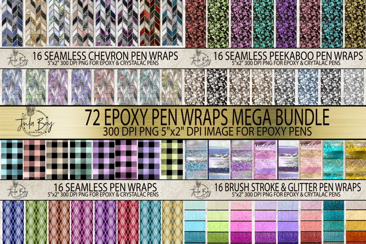 Pen Wraps for Epoxy Pen Tangram Argyle Peekaboo Mega Bundle