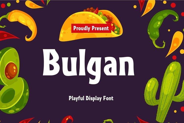 Web Font Bulgan Display Font example image 1