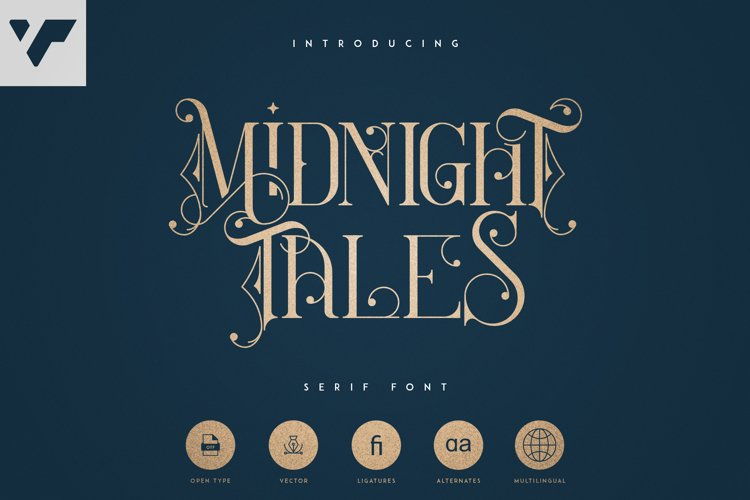 Midnight Tales - Vintage font example image 1