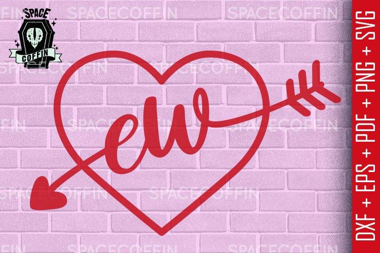 Ew heart, anti san valentines day silhouette vector