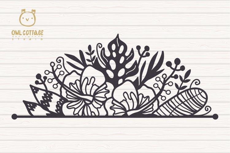 Tropical Border SVG, Luau Decor SVG File, Wedding Flowers example 2