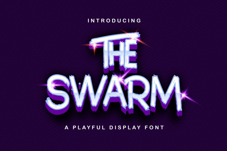 The Swarm - Playful Display Font example image 1