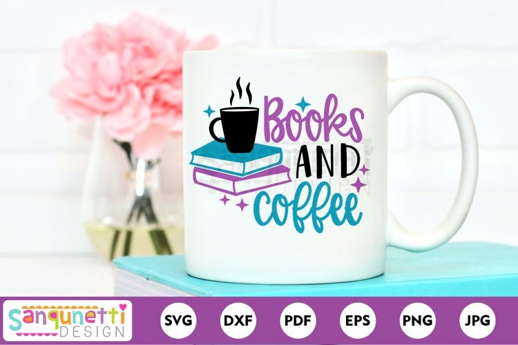 Books and Coffee reading SVG cutting file