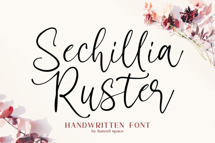 Sechillia Ruster - Handwritten font example image 1