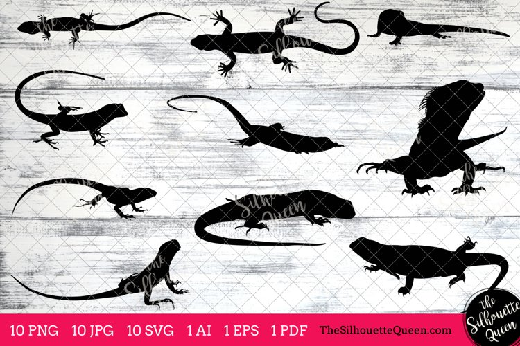 Lizard Silhouette Clipart Clip Art(AI, EPS, SVGs, JPGs, PNGs, PDF), Lizard  Clip Art Clipart Vectors - Commercial   Personal Use
