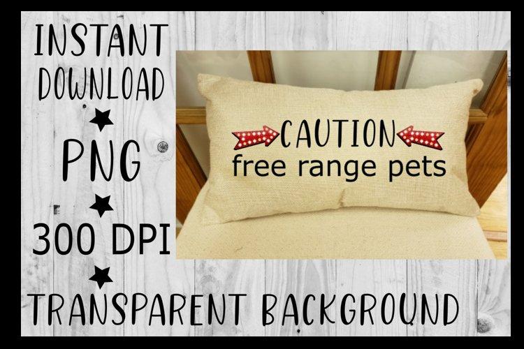 Caution free range pets Clipart PNG