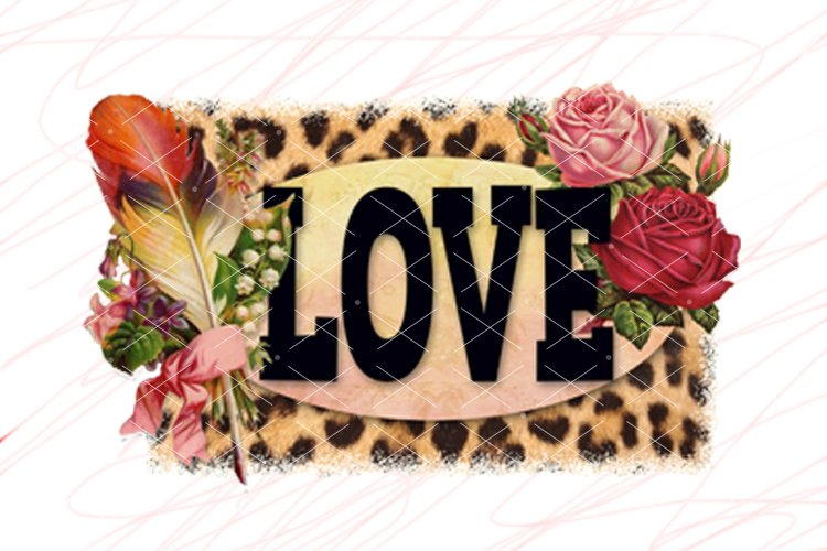 Happy Easter PNG Sublimation design downloads Heart Saying example image 1