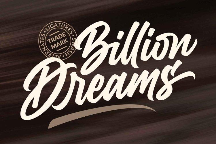 Billion Dreams / Urban Font example image 1