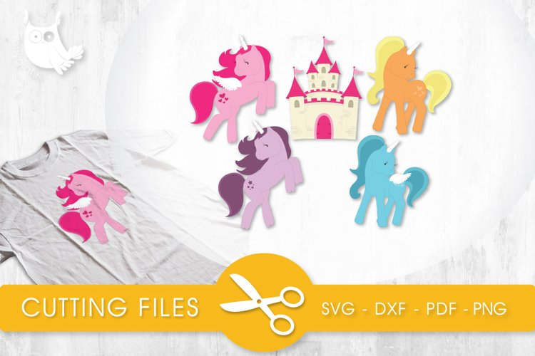Pretty Ponies cutting files svg, dxf, pdf, eps included - cut files for cricut and silhouette - Cutting Files SG example image 1
