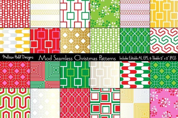 Mod Seamless Christmas Patterns example image 1