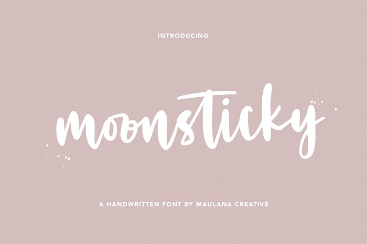 Moonsticky Handwritten Font example image 1