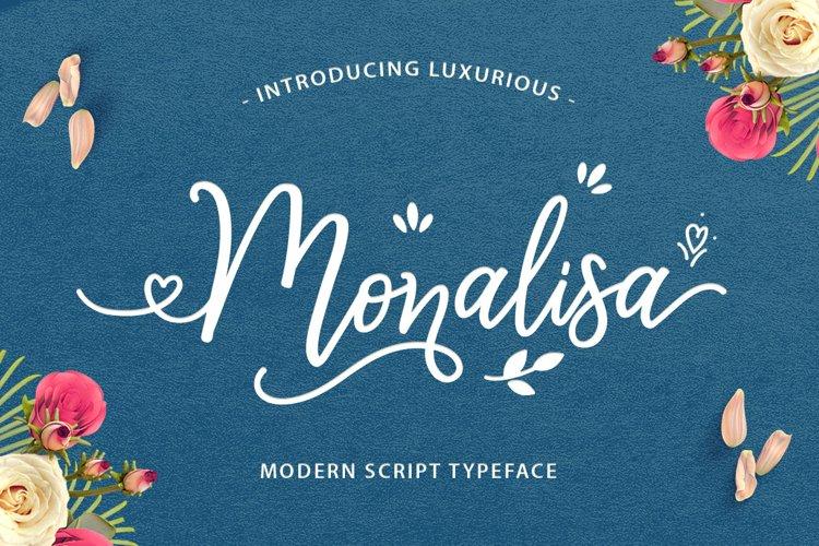 Monalisa Luxurious Font example image 1