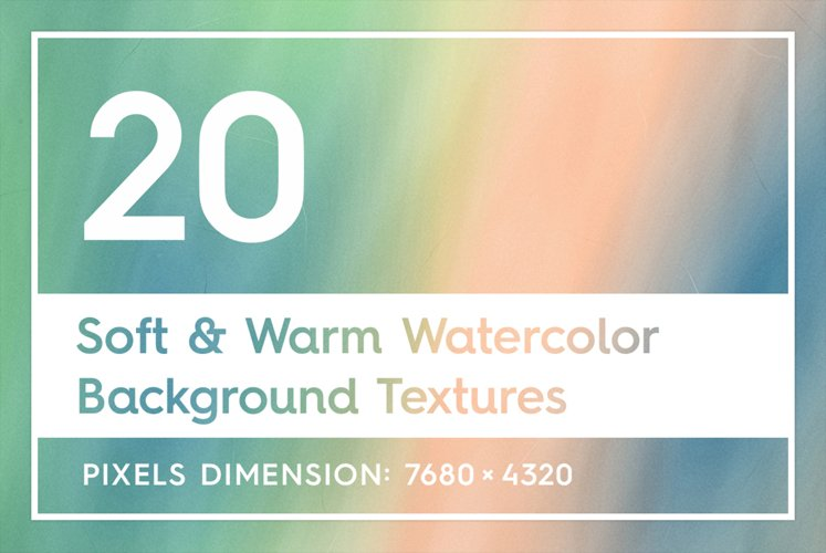 20 Soft & Warm Watercolor Backgrounds example image 1