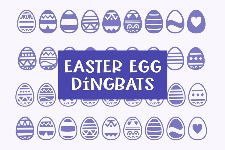 Web Font Easter Egg Dingbats - smooth cuttable easter egg do example image 1
