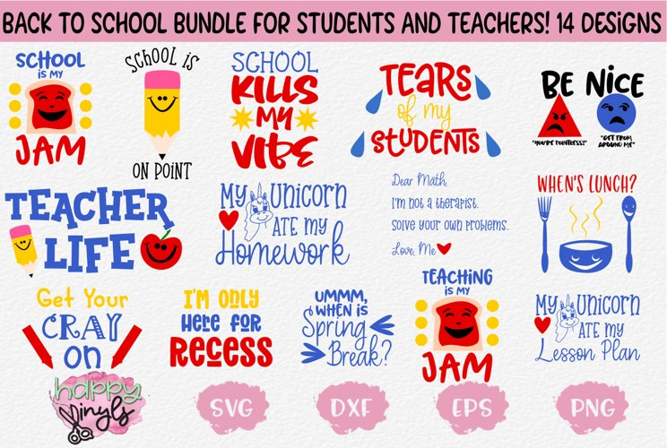 Back to School for Students and Teachers - A School Bundle