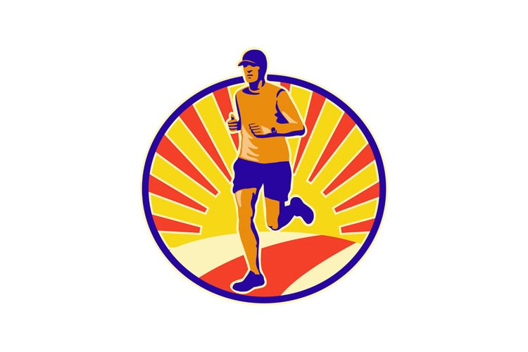 Marathon Runner Athlete Running example image 1