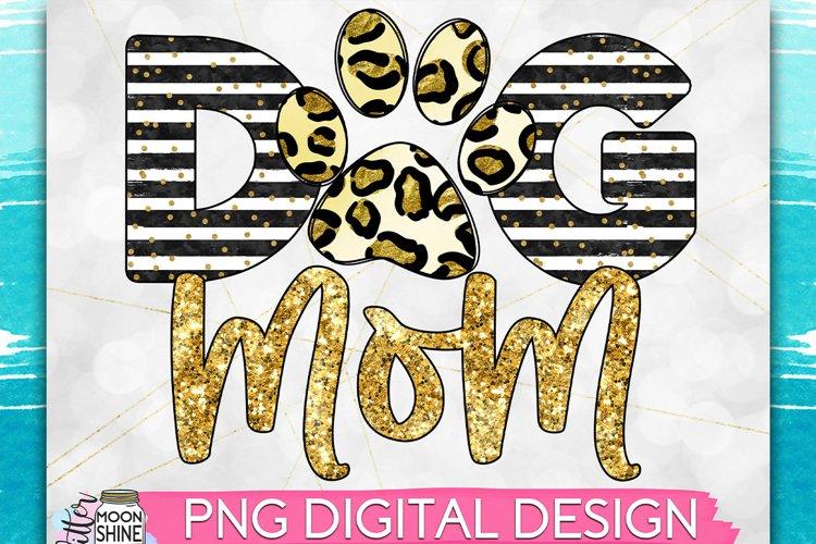 Dog Mom Leopard Print PNG Sublimation Design example image 1