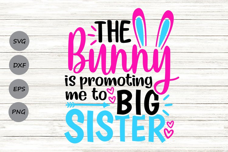 The Bunny Is Promoting Me To Big Sister Svg, Easter Svg. example image 1