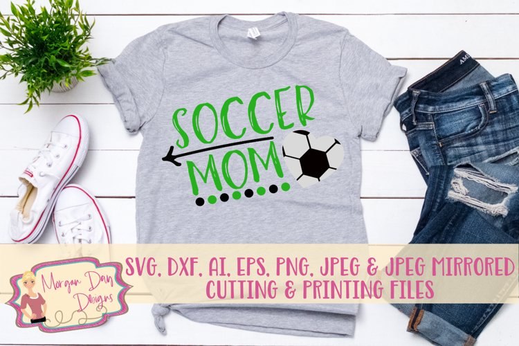 Soccer Mom SVG, DXF, AI, EPS, PNG, JPEG example image 1