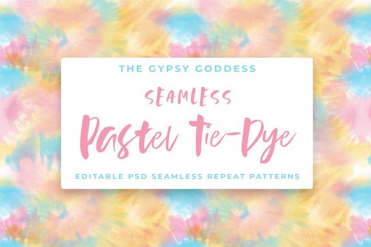 Seamless Pastel Tie-Dye Patterns example image 1