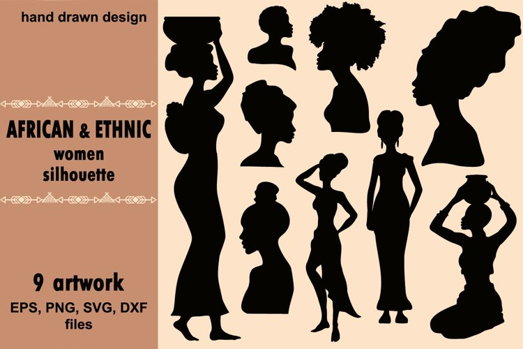 African and Eethnic women silhouette