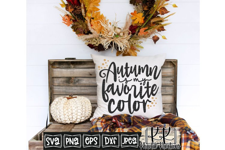 Autumn is my Favorite Color Svg, Autumn Svg, Fall Svg example image 1