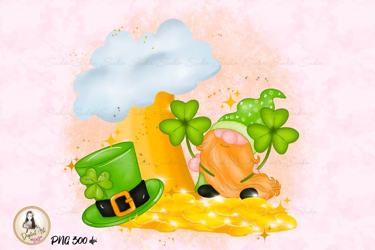 St Patricks Day Gnome Cute Sublimation