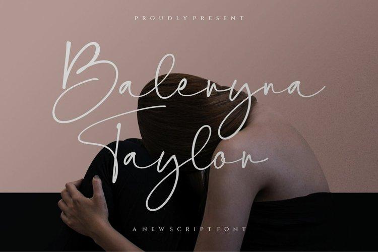 Baleryna taylor script font-signature font-Handwritten example image 1