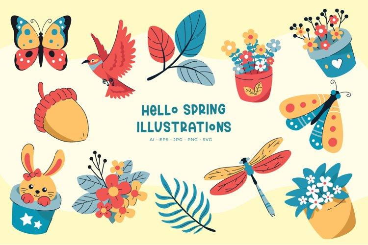 Hello Spring illustrations