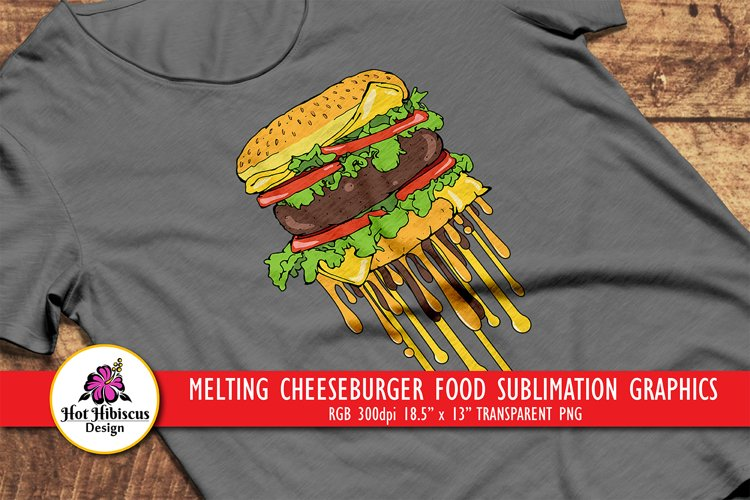 Cheeseburger T-shirt Graphics | Fast Food Sublimation Design