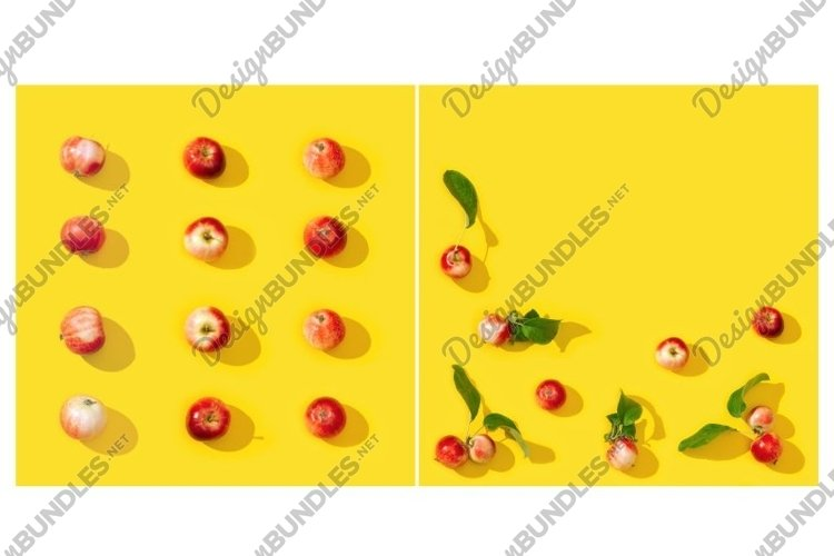 Small red apples pattern or postcard example image 1