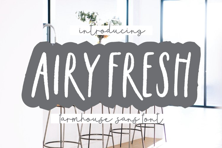 AIRY FRESH Distressed Farmhouse Font example image 1