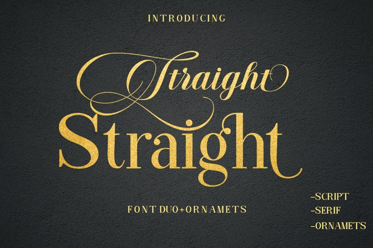 Straight Font Duo Plus Ornament example image 1