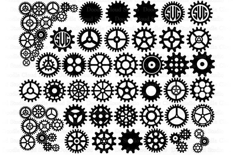 Cogs and Gears SVG, Gears Bundle SVG Cut Files, Steampunk.