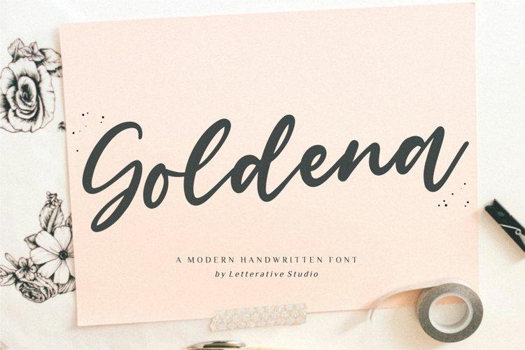 Goldena Modern Handwritten Font