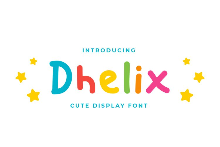 Dhelix - Cute Display Font example image 1
