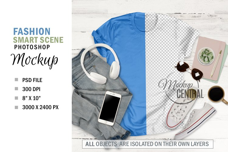 Women's Smart Scene T-Shirt Styled Shirt Mockup example image 1