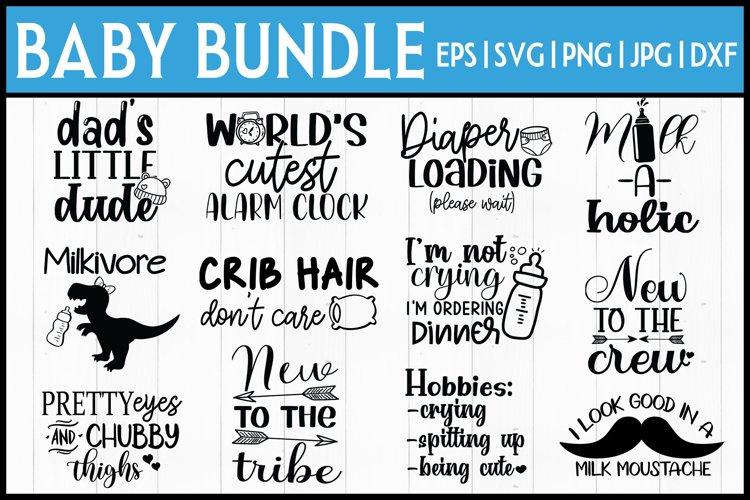 Baby Onesie Bundle  Baby SVG Bundle- 12 DESIGNS! example image 1