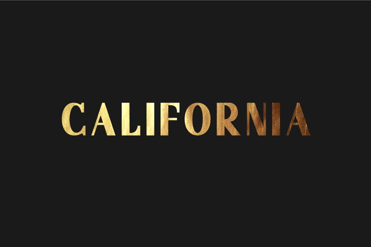 California. Sans serif family.