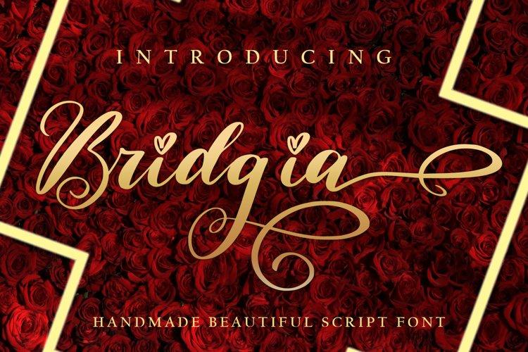 Bridgia Valentine - WEB FONT example image 1