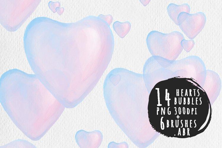Romantic hearts- bubbles example image 1