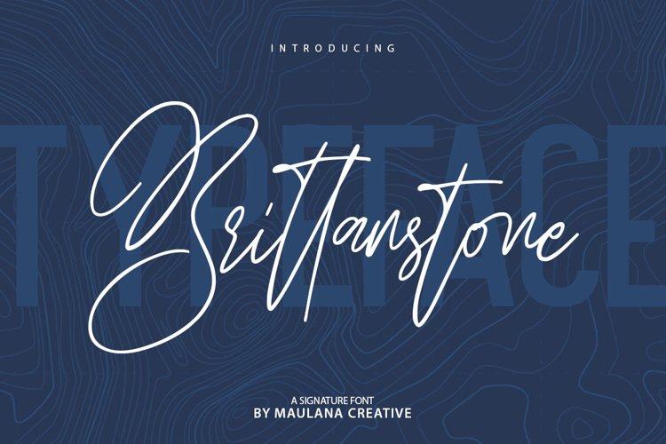 Brittanstone - Signature Font Sans Serif example image 1