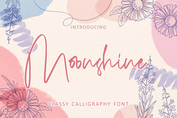 Moonshine - Classy Calligraphy Font example image 1