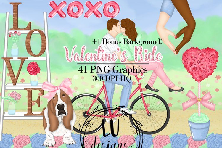 Valentine's Day Clipart, Romantic Graphics, Love Clipart example image 1